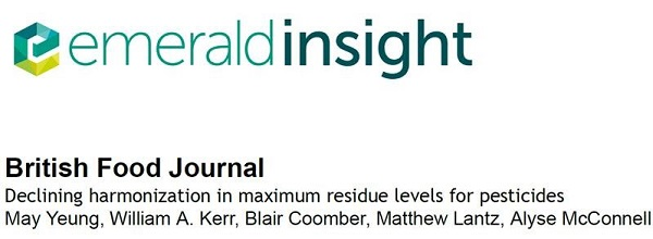 BCI Coauthors MRL Article in the British Food Journal