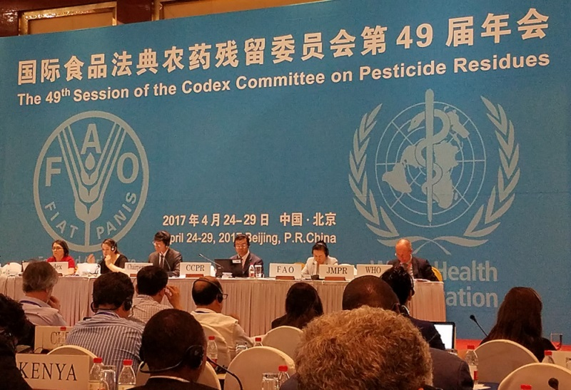 49th Session of the Codex Committee on Pesticide Residues held in Beijing, China